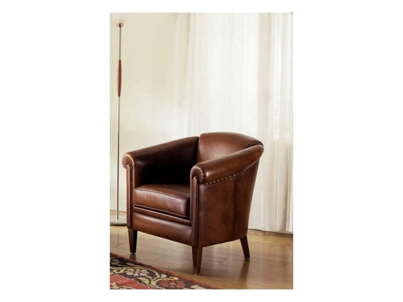Tilburg, Hand-worked armchair, padded, for luxury room