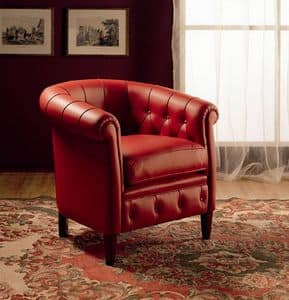Tilly, Armchair with elegant covering, for Hall hotel