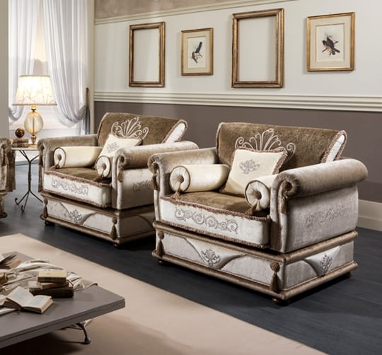 UNIQUE armchair, Classic armchair with removable cover