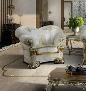 VANITY armchair, Luxurious armchair customizable with embroidery