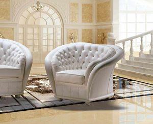 VERSAILLES armchair, Classic capitonn� armchair