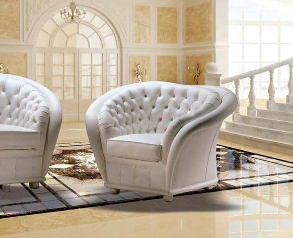 VERSAILLES armchair, Classic capitonné armchair