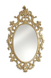 2580, Oval mirror with carving and open-work