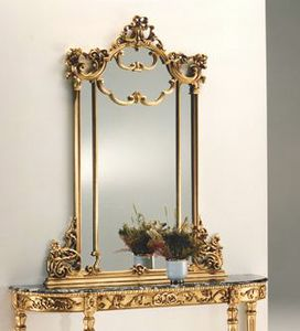 2635 mirror, Gold leaf mirror, in carved wood