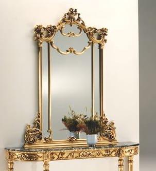 2635 mirror, Gold leaf mirror, in carved wood