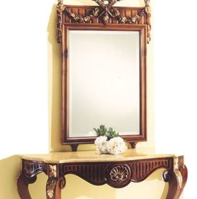 2935 mirror, Mirror with carved wooden frame