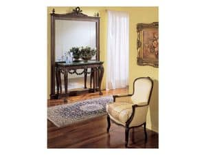 3160 MIRROR, Luxury classic mirror, in hand carved wood