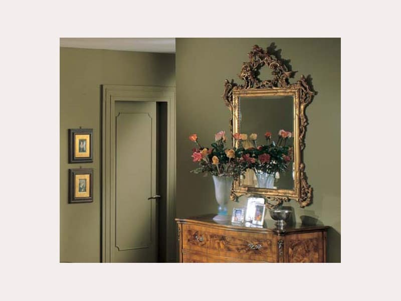 3265 MIRROR, Classic rectangular mirror, hand carved