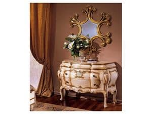 3295 MIRROR, Luxury classic dressing table, for entrances and living rooms