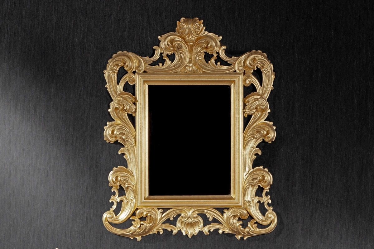 Ricciolo small, Classic mirror suited for hotels and restaurants