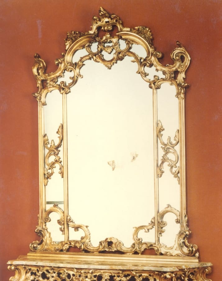 560 mirror, Baroque style mirror, with hand carved frame