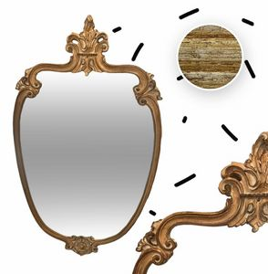 580 MIRROR, Mirror with carved frame