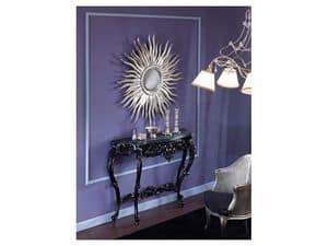 709 MIRROR, Mirror in the shape of the sun, a silver leaf finish