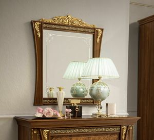 Aida mirror, Classic style mirror, with wooden frame