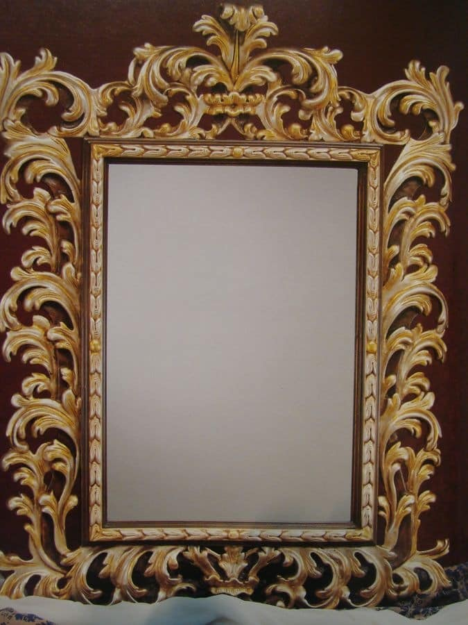 Art. 101G, Mirror with frame, classic luxury, style '700 Tuscan