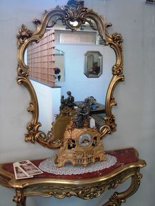 Art. 155, Mirror with carved wood frame