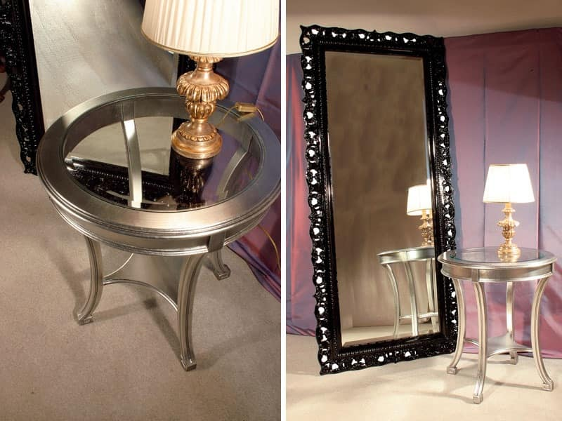 Art. 1788 Audrey, Rectangular mirror, frame finished in classic style