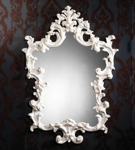Art. 20502, Mirror with carved white frame