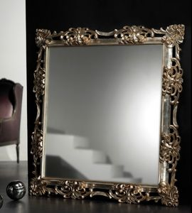 Art. 20534, Square mirror, with hand carved frame