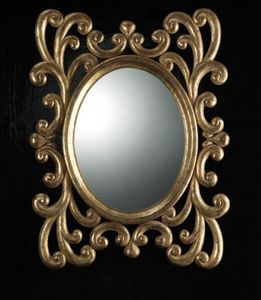 Art. 20900, Oval mirror with carved frame