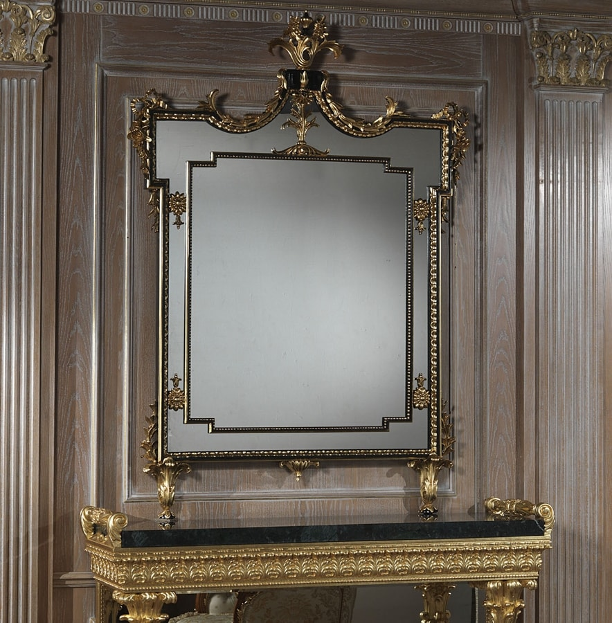 Art. 2095 mirror, Rectangular mirror with carved frame