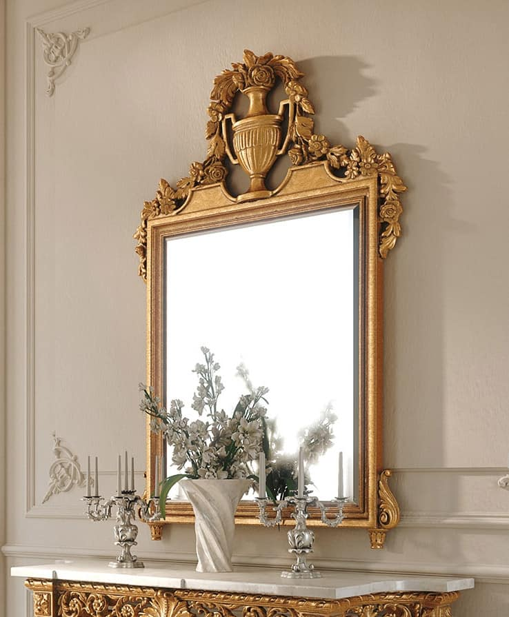 Art. 262/S, Classic mirror in carved wood