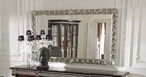 ART. 2754, Mirror with frame with silver trim