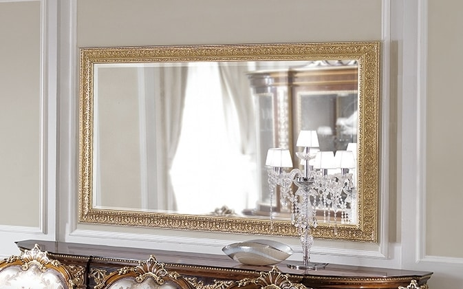 ART. 3059, Mirror with gold leaf frame