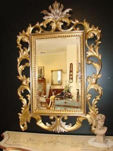 Art. 400, Classic mirror with gold finish, for home