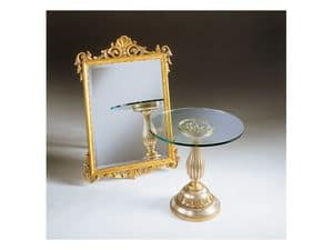 Art. 401, Mirror with gold leaf finish, antique, for hotel