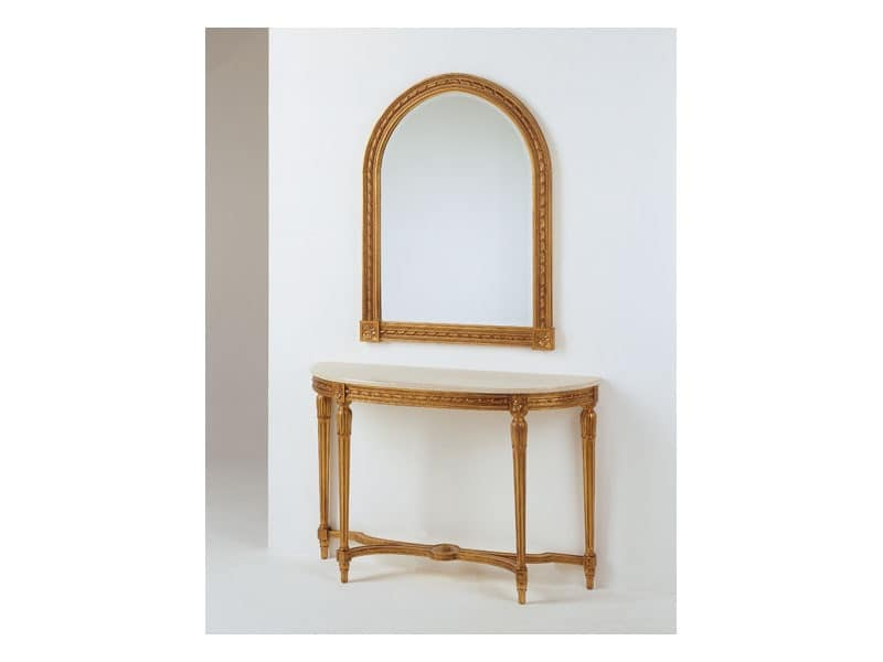 Art. 700/S, Carved wooden mirror, for classic living room