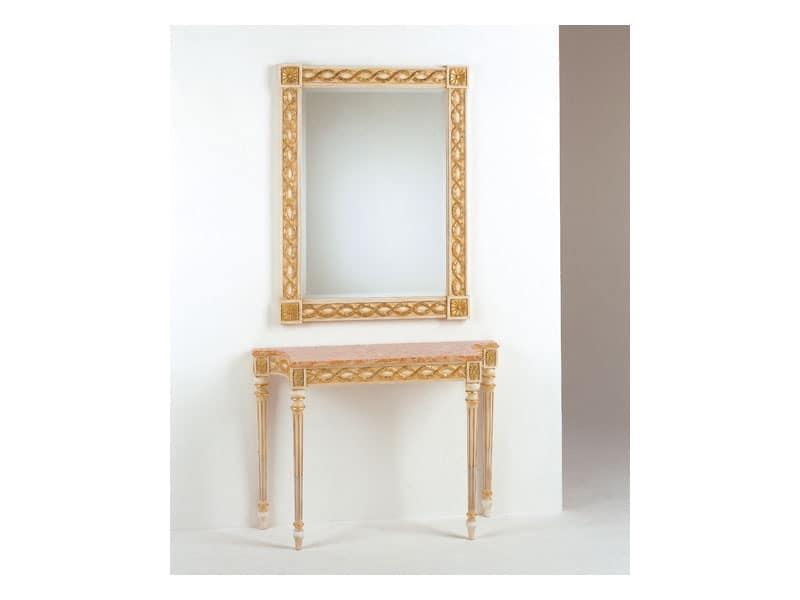 Art. 710/S, Classic mirror, Louis XVI style, finishing gold leaf