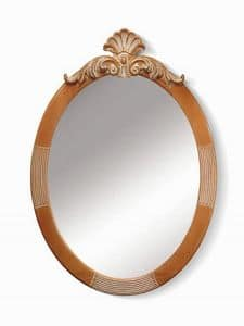 Art. 720, Oval mirror with floral decorations on top