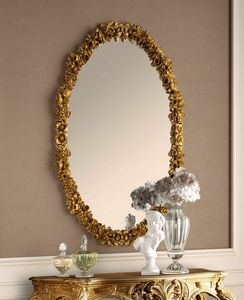 Art. 801, Oval carved mirror