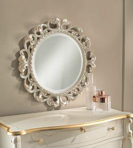 Art. 806, Round carved mirror