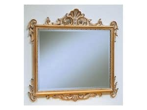 Art. 811, Luxury classic mirror, pickled finish, for hotels