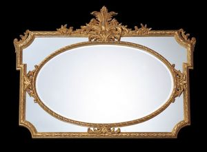 Art. 9098, Classic mirror, burnished gold color