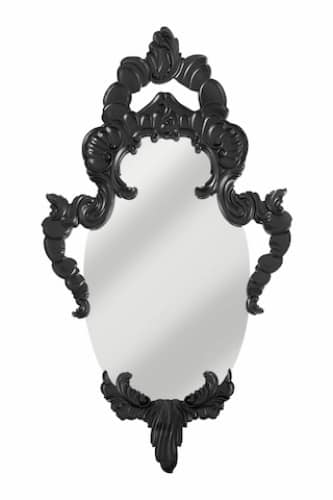 Art. AS155, Oval Mirror with lacquered wooden frame