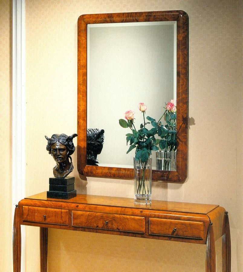 Art Déco Art.550 mirror, Mirror in bevelled glass