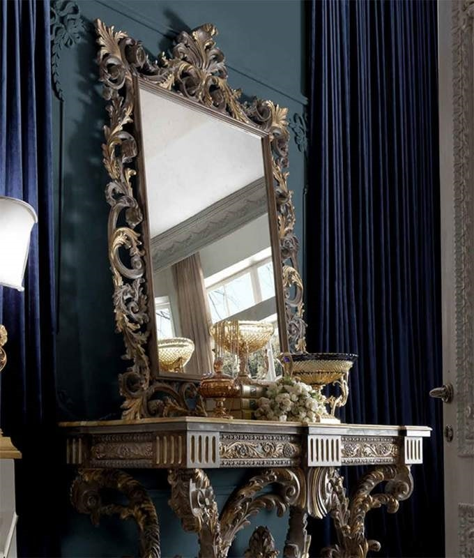 Barocchetto Art. SPE06, Baroque style mirror with carvings