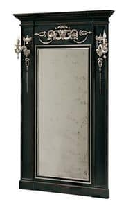 Canaletto RA.0844, Lacquared mirror with inlaid decorations and side columns