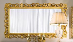 Chippendale rectangular mirror gold, Golden mirror, classic style