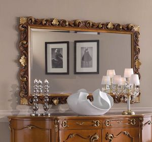 Chippendale rectangular mirror, Classic mirror, carved frame