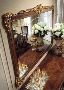 Donatello mirror, Luxury classic mirror, frame carved and decorated by hand, for every neoclassic style room