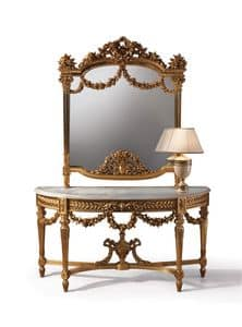 F508, Console with marble top and classic mirror