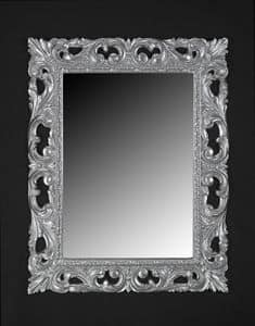 Memo, Classic style mirror with frame in lacquered wood