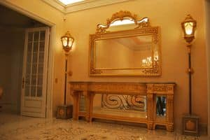 MIRROR CR 0060, Carved classic mirror, for luxury hotels and villas