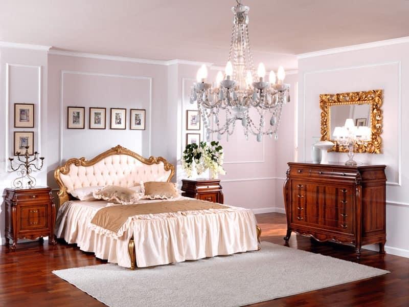 OLIMPIA B / Rectangular mirror, Classic luxury mirror, in wood, with luxurious finish