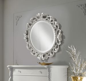Puccini Art. 7511, Round carved mirror
