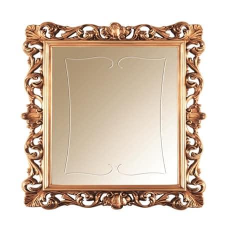 Sinfonia mirror gold, Mirror inlaid in gold leaf, in seventeenth-century style